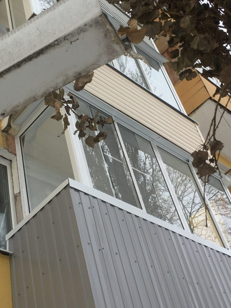 Вынос балкона наружу