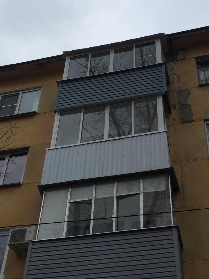 Наружная отделка балкона ранилом