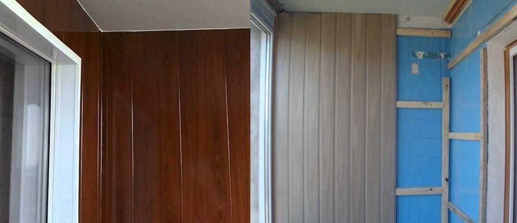 Отделка балкона МДФ вагонкой