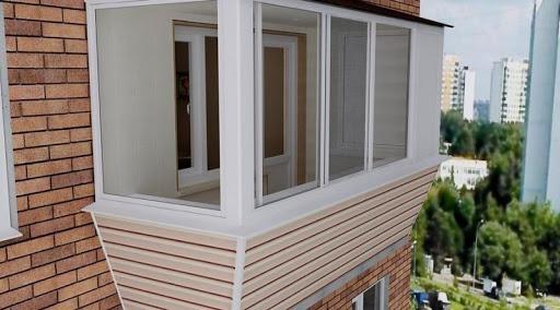 Виниловый сайдинг отделка балкона