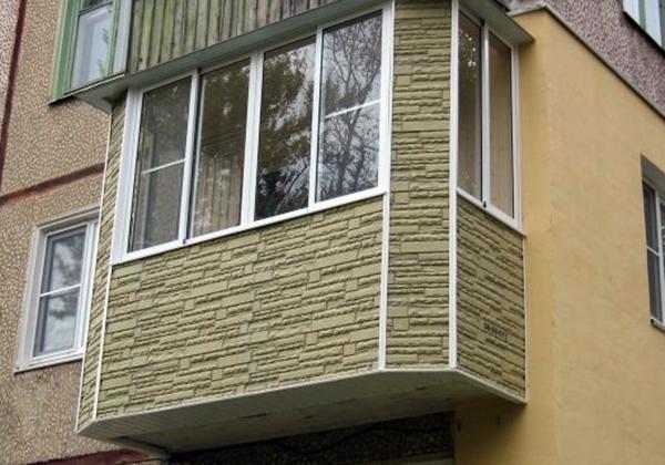 Наружняя отделка балконов и лоджий